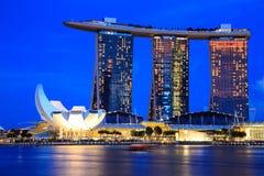 Singapore Cityscape at night Stock Photos