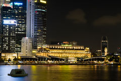 Singapore cityscape at night Stock Photography