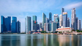 Singapore cityscape at night in Singapore. Stock Photography