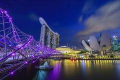 Singapore cityscape at night Stock Photo