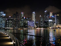 Singapore cityscape at night Royalty Free Stock Photo