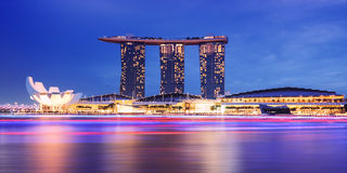 Singapore cityscape night view Stock Images
