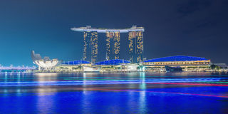 Singapore cityscape night view Royalty Free Stock Photography