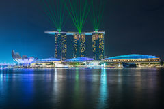 Singapore cityscape night view Royalty Free Stock Image