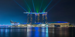 Singapore cityscape night view Royalty Free Stock Images