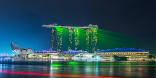 Singapore cityscape night view Royalty Free Stock Photo