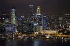 Singapore cityscape at night Royalty Free Stock Photos