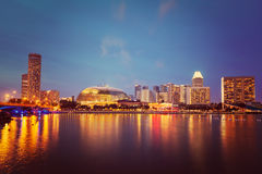 Singapore cityscape night Stock Image
