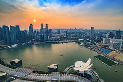 Singapore cityscape skyline Royalty Free Stock Photo