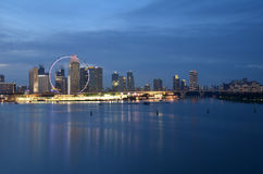 Singapore cityscape during sunset Royalty Free Stock Photos
