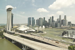 Singapore Cityscape View Through Window stock photography