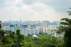 Singapore cityscape viewing from Mount Faber hill top.  Stock Photo