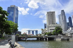 Singapore from claks Quay over marina bay sands Royalty Free Stock Photos