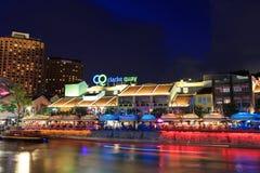 Singapore clarke kajnatt Arkivfoto
