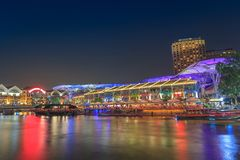 Singapore Clarke Quay Royalty Free Stock Photography