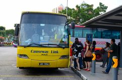 Singapore coach terminal for bus transport to Johor Bahru Malaysia Stock Photos