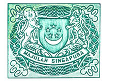 Singapore Coat of Arms on Currency Note Royalty Free Stock Images