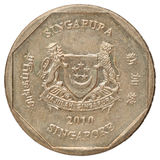 Singapore coin stock images