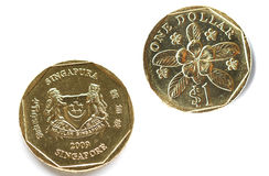 Singapore Coins stock photo