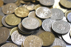 Singapore coins. Lot of Singapore coins can use as background in design Stock Photography