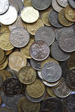 Singapore coins. Lot of Singapore coins can use as background in design Royalty Free Stock Images