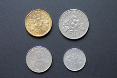 Singapore coins Stock Photography