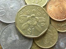 Singapore coins stock images