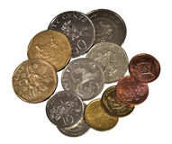 Singapore coins set i Royalty Free Stock Photo