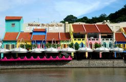 Singapore: Colourful Clarke Quay Royalty Free Stock Image