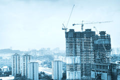 Singapore construction Royalty Free Stock Photography