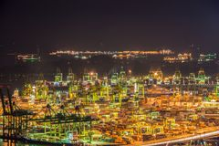 Singapore container port Royalty Free Stock Images
