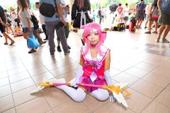 Singapore: Cosplay. Unknown pretty cosplayer at one of the many costplay events in Singapore Royalty Free Stock Photography