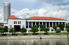 Singapore: Costruzione del Parlamento di Singapore Fotografie Stock Libere da Diritti