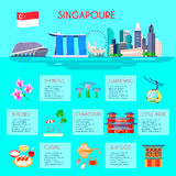 Singapore Culture Infographic Royalty Free Stock Photography