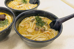 Singapore Curry Laksa Noodles Royalty Free Stock Images