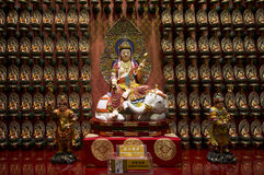 Singapore Dalla raccolta delle reliquie del tempio della reliquia sacra del dente Fotografia Stock