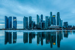 Singapore at Dawn Royalty Free Stock Photo