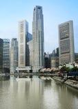 Singapore at dawn Stock Photo