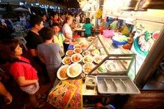 Singapore: De baai van Makansutragourmanden Stock Foto