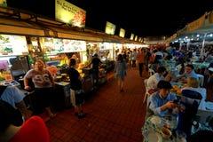 Singapore: De baai van Makansutragourmanden Stock Afbeelding
