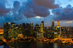 Singapore de stad in Stock Afbeelding