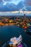 Singapore de stad in Stock Foto