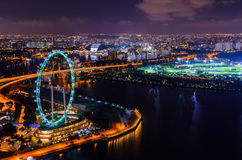 Singapore de stad in Royalty-vrije Stock Foto's