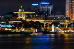 Singapore de stad in Stock Foto's