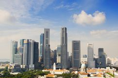 Singapore de stad in in de dag Royalty-vrije Stock Foto's