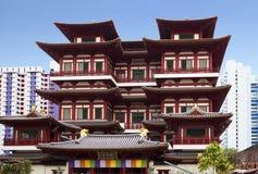 Singapore De Tempel van het Heilige Tandoverblijfsel Stock Afbeelding