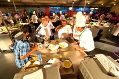 Singapore: De voedselconcurrentie Royalty-vrije Stock Afbeelding