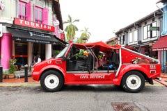 Singapore: De vrachtwagen van de hulpdienstbrand stock foto