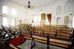 SINGAPORE - 31 DEC 2013: Från baksidan av den armeniska kyrkan av Arkivfoto