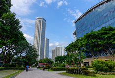 Modern buildings in Singapore Royalty Free Stock Photos